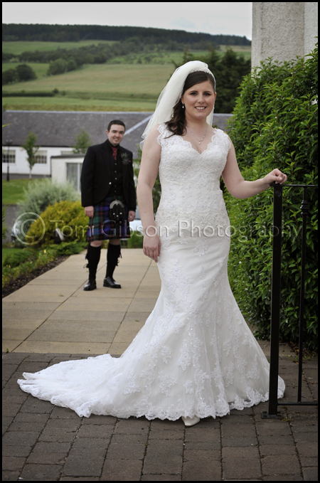 Wedding photographer ayrshire, wedding Lochside House Hotel, Laura and Ian bride and groom photograph