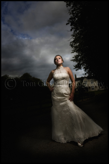 wedding photographer glasgow south, stunning wedding photographs bridal portrait, wedding in burnhouse manor