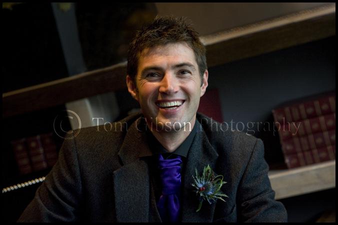 Glasgow wedding photographer, groom wedding photograph, Eaglesham wedding
