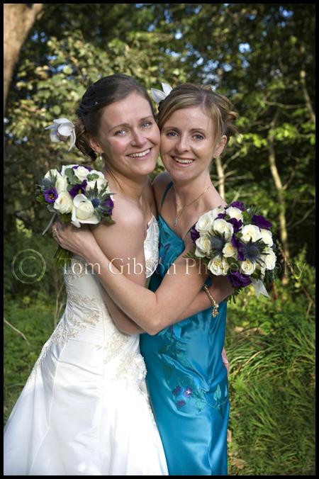 Wedding photographer Scotland, natural wedding photograph bride and bridesmaid, wedding Eaglesham