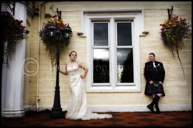 Wedding photographer Ayrshire Burnhouse Manor, stunning wedding photographs bride and groom, wedding Burnhouse Manor