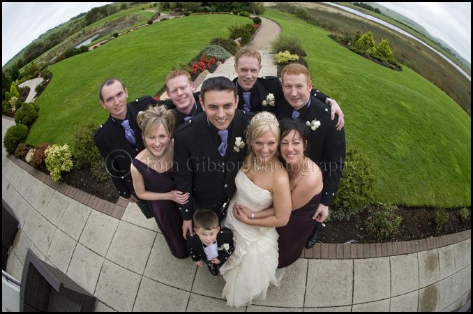 wedding lochside house hotel fun wedding photographer ayrshire