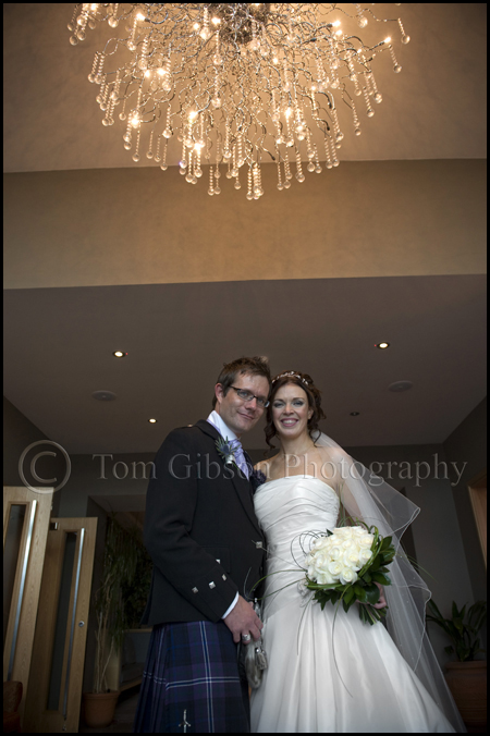 Brisbane House Hotel wedding, wedding photographer Scotland, colourful wedding photographs bride and groom