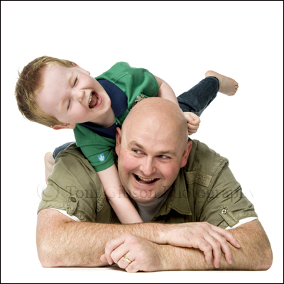 Prestwick Portrait Photographer, Funny Dad and son Photograph