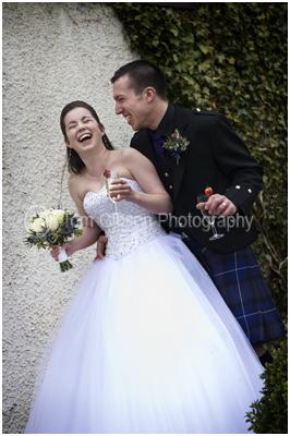 Wedding Photographer Lochside House Hotel, fantastic fun wedding photograph