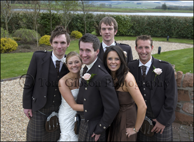Wedding Photographer Lochside House Hotel, fun wedding photographer