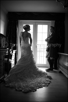 Lochside House Hotel Wedding Photographer, stunning wedding photograph
