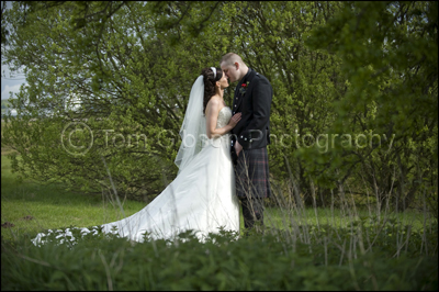 Wedding Photographer Ayrshire, romantic wedding photograph bride and groom
