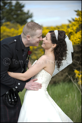 Gailes Hotel Wedding Photographer, Bride and Groom fun wedding photographs
