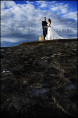 Wedding Photographer Gailes Hotel Ayrshire, Bride and Groom Beach photograph