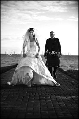 Ayrshire Wedding Photographer, Bride and Groom Beach Photographs
