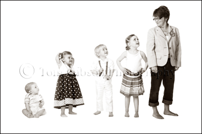 Scottish Family Portrait Photographer Ayrshire, Ayrshire Family Photograph Gran and Grandchildren