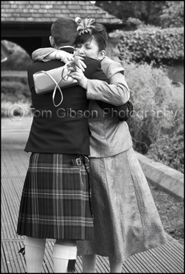 Wedding Photographer Troon Ayrshire, Groom and Mum emotional wedding photograph