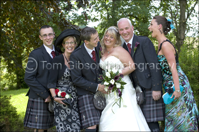 Burnhouse Manor Wedding Photographer, Fun wedding photographs family group