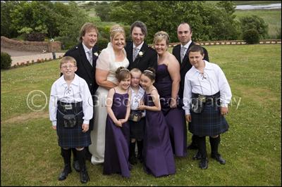 Wedding Photographer Scotland, Fun Wedding Photographs with children
