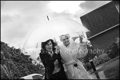 Western House Hotel Ayr Wedding Photographer, Wedding Photographs in the rain