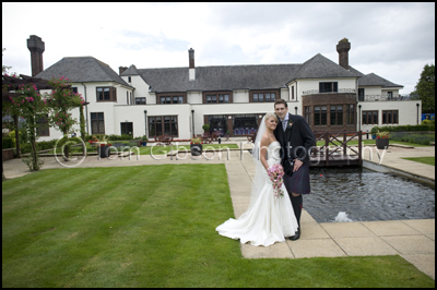 Wedding Photograph Bride and Groom Western House Hotel, Ayr Wedding Photographer