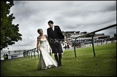 Wedding Photographs Ayr Race Course, Western House Hotel Wedding Photographer