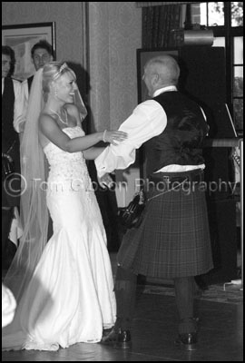 Bride and Dad dance, Wedding Photographer Ayrshire