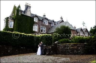 Wedding Photographer Cromlix House Hotel, Bride and Groom Photograph Cromlix House Hotel