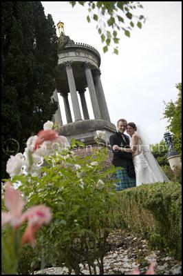 Wedding Photographer Brig O Doon House Hotel, Wedding Photograph Bride and Groom Brig€™O