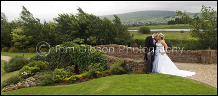 Christian Wedding Photographer, Wedding Photographs Lochside House Hotel Bride and Groom