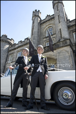 Fun Natural Groom and Best Man Wedding Photographs , Airth Castle Wedding Venue, Stirling, Scotland