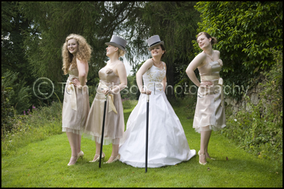 Bride and Bridesmaids Happy Wedding Photograph, Airth Castle Scottish Wedding Venue VOWS Winners