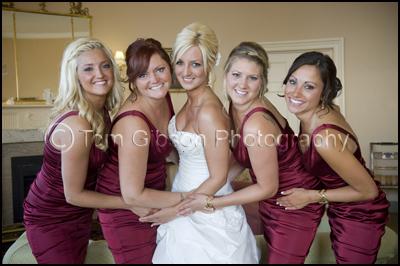 Wedding Photographer Culzean Castle, Maybole, Ayrshire, Scotland, Fun Wedding Photograph Bride and Bridesmaids