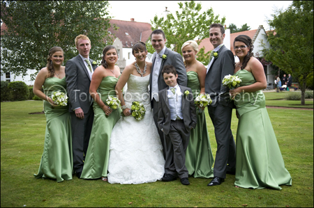 Wedding Photographer Troon, Bride, Bridesmaids, Groom, Bestman, Ushers Group Photograph