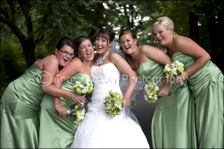 Bride and Bridesmaids Photograph, Wedding Photographer Lochgreen House Hotel, Troon, Ayrshire, Scotland