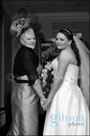 Lochside House Hotel Bride and Mother of the Bride Wedding Photograph