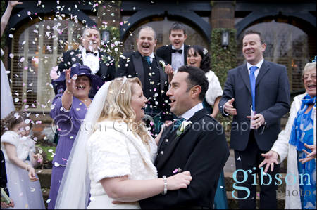 Piersland House Hotel, Wedding Photographer Ayrsxhire, Bride and Groom Wedding Confetti Photograph