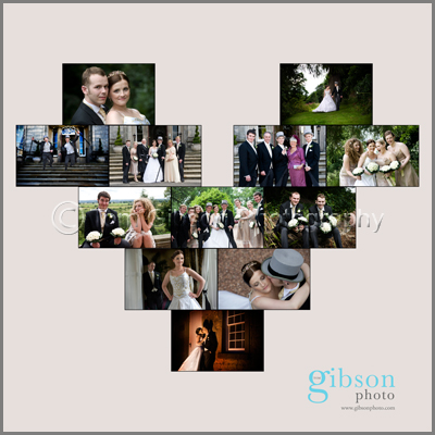 Montage of Wedding Photographs, Suzanne & Patricks Airth Castle Wedding