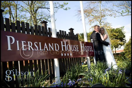 Wedding Photographer Peirsland House Hotel Bride and Groom