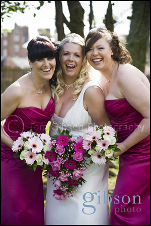 Peirsland House Hotel Wedding Photograph Bride and Bridesmaids