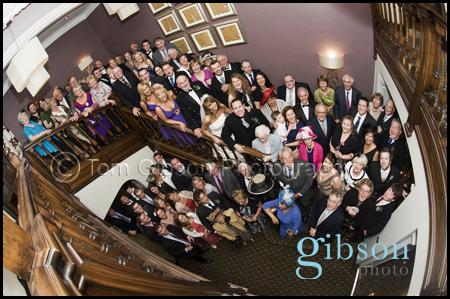 Large group shot Western House Hotel Wedding Photography