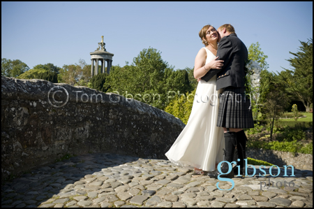 Bride & Groom Brig O Doon Wedding Photograph