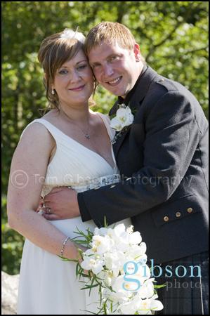 Wedding Photograph Bride & Groom Brig O Doon