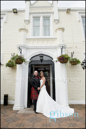 Ayrshire Wedding Photographs for June & Colin at Burnhouse Manor