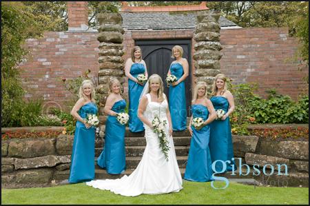 Wedding Photographer Ayrshire, Bride and Bridesmaids wedding photograph