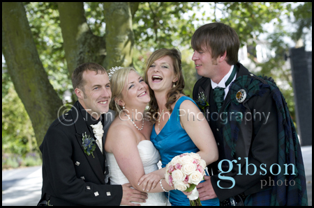 Fun wedding photograph Carlton Hotel Prestwick