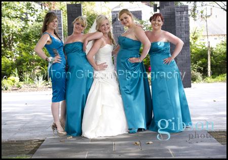 Carlton Hotel Prestwick Wedding Photographer Bride and Bridesmaids photo