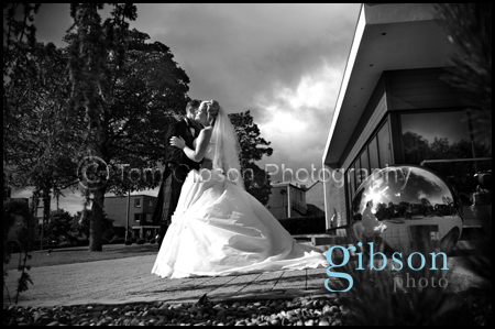 Contemporary wedding photograph Carlton Ayrshire