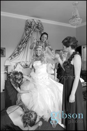 Culzean Castle Wedding photograph bride and bridesmaids