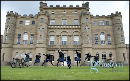 Wedding Photographer Culzean Castle Ayrshire groom, bestman and ushers fun wedding photograph