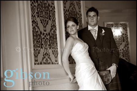 Wedding Photographer Glenskirlie bride and groom wedding photograph