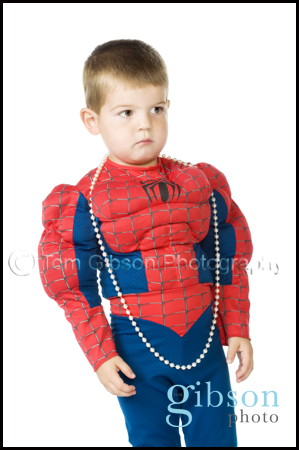 Studio Portrait Photographer Glasgow - Funny toddler photograph