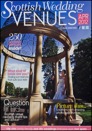 Scottish Wedding Directory Venues Front cover Wedding Photograph