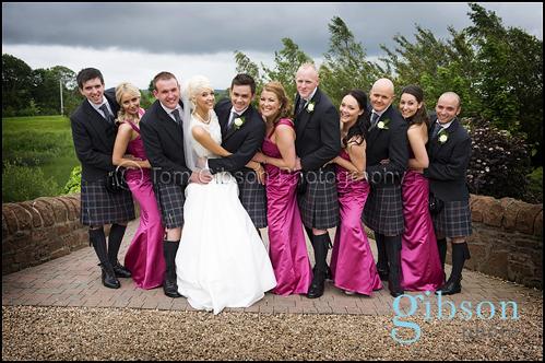 Fun Wedding Photographs Lochside